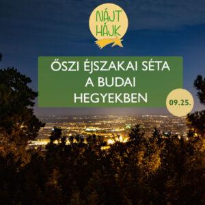 Őszi Nájt Hájk éjszakai teljesítményséta nevezési díj